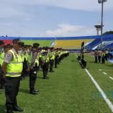 Kapolres Malang AKBP Yade Setiawan Ujung saat melakukan apel pengamanan di Stadion Kanjuruhan, Kabupaten Malang (Foto : Humas Polres Malang for MalangTIMES)