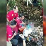 Polisi saat berhasil menemukan potongan kepala Budi Hartanto.