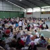 Proses pelipatan surat suara di Lumajang (Foto : Moch. R. Abdul Fatah / Jatim TIMES)