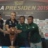 Suasana konferensi pers jelang laga leg kedua final Piala Presiden 2019 di Malang. (Foto: Dokumen MalangTIMES)