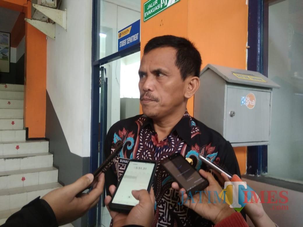 Kepala Bidang Pembinaan Pendidikan SMK Provinsi Jawa Timur Dr. Suhartono, M.Pd. (Foto: Imarotul Izzah/MalangTIMES)