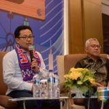 Wali Kota Malang Sutiaji saat berbicara dalam seminar dan diskusi Malang Raya Economic Forum di Hotel Santika Malang. (Foto: Dokumen MalangTIMES)