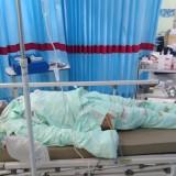Korban Lasmini saat menjalani perawatan di Rumah Sakit. (Foto: istimewa)