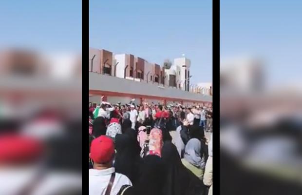 Susana Pemilu Presiden tahun 2019 DPT sedang mengantri di Arab Saudi, Sabtu (13/4/2019) (Foto: istimewa)
