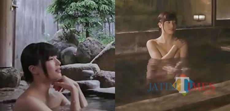 Bersama bintang porno Shoka Takahashi bisa berendam air panas di Jepang. (Foto: istimewa)