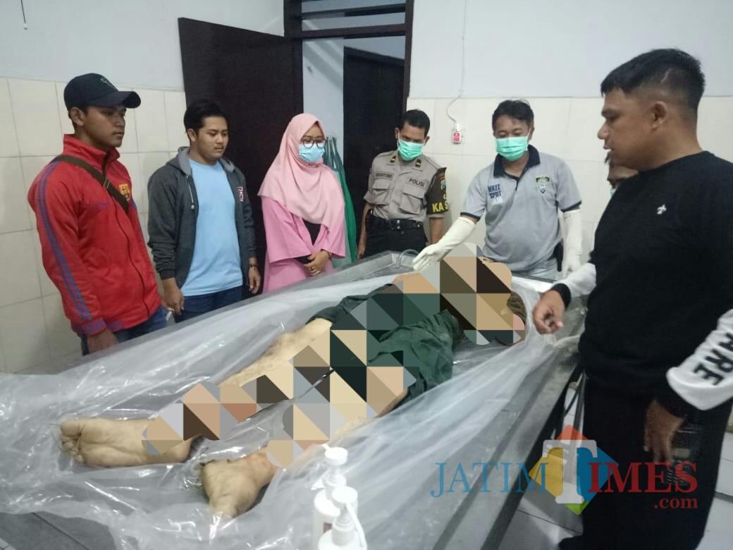 Kondisi korban Lukman saat di RSUD dr Iskak Tulungagung. / Foto : Dokpol / Tulungagung TIMES