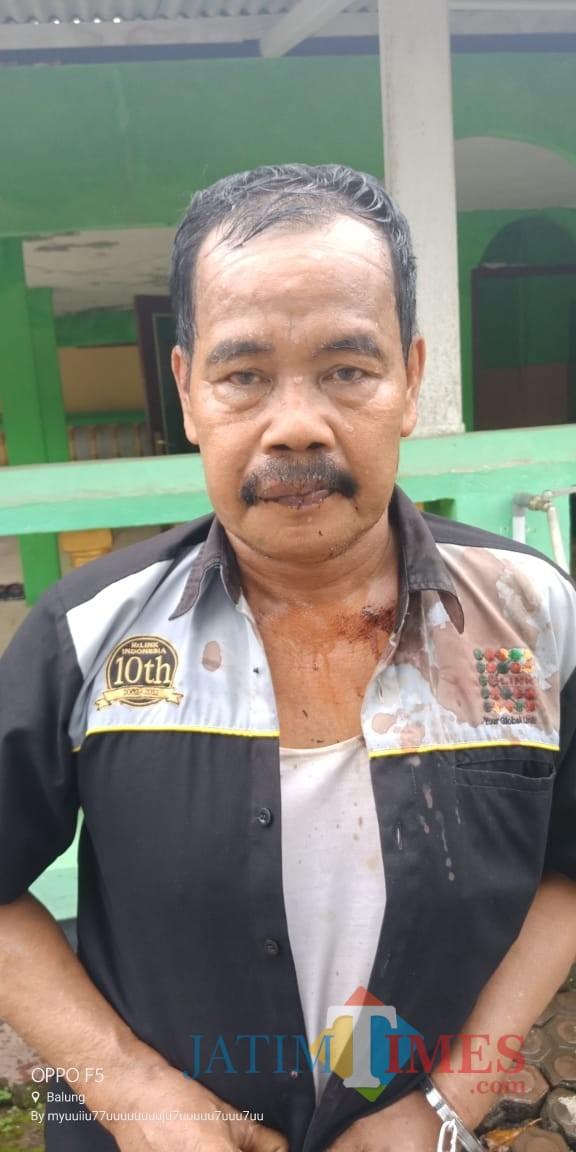 Satuki pelaku pencurian sepeda motor yang mengaku di suruh oleh salah satu kandidat calon kepala desa Wringintelu (foto : Minto SW / Jatim TIMES)