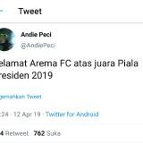 Bikin Adem, Pentolan Bonek Mania Ucapkan Ini untuk Arema FC yang Juarai Piala Presiden 2019