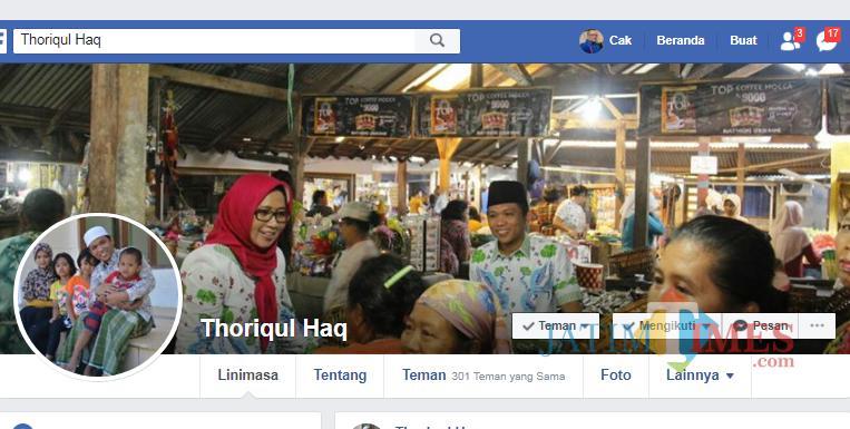 Inilah akun Facebook Bupati Lumajang yang dikloning orang tak dikenal (Foto : Moch. R. Abdul Fatah / Jatim TIMES)