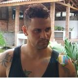 Robert Lima Guimaraes, striker Arema FC asal Brazil. Dia diputus kontrak oleh Arema. (Hendra Saputra)