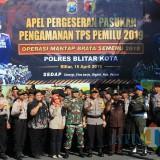 TNI-Polri di Blitar siap amankan jalannya Pemilu dan Pilpres 2019.