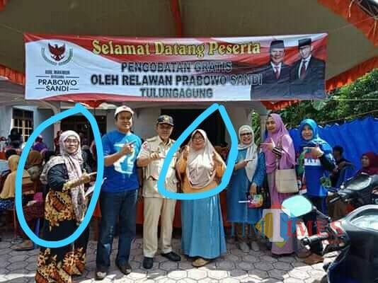 Foto yang di sebut sebagai PPS dan KPPS yang disinyalir menjadi timses capres (Foto : Istimewa / TulungagungTIMES)