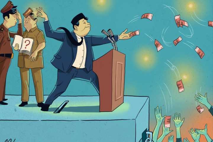 Ilustrasi money politik (radio idola.com)