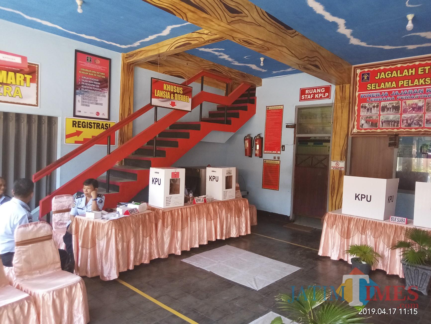 TPS di Lapas Lowokwaru (Anggara Sudiongko/MalangTIMES)