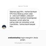 Tangkapan layar laporan karyawan yang menyebut tak diizinkan nyoblos. (Foto: Dokumen Bawaslu Kota Malang)