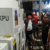 Wali Kota Malang Sutiaji bersama Forkopimda saat memantau kesiapan menjelang pemilu di TPS 67,68,69 yang berada di satu lokasi
