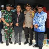 Forkopimda Blitar sambut kedatangan mantan Wapres Boediono di Stasiun KA Blitar