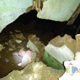 Kondisi tanah ambles di jalan KH. Agus Salim Gg. Soponyono RT 01 RW 03, Kelurahan Sisir, Kecamatan Batu, Kota Batu. (Foto: istimewa)
