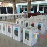 Kotak suara yang siap diangkut ke tingkat kecamatan dari desa (Nana)