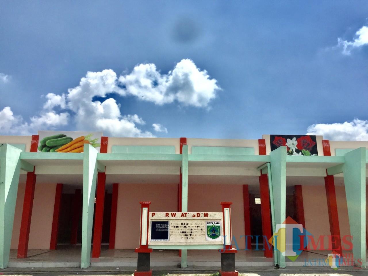 Pasar desa wisata ini terletak di rest area jalan Jl Bukit Berbunga, Desa Sidomulyo, Kecamatan Batu. (Foto: Irsya Richa/MalangTIMES)