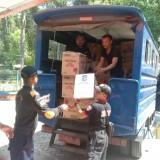 Bantuan yang dikirim oleh Pemkot Surabaya