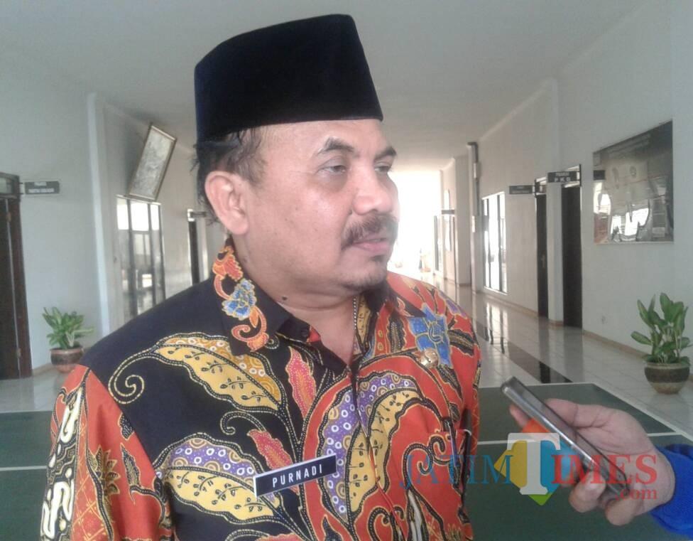 Kepala Bapenda Kabupaten Malang Purnadi optimistis retribusi daerah tahun 2019 kembali melampaui torehan tahun lalu. (Nana)