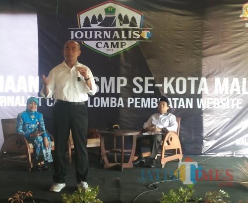 Mendikbud RI Muhadjir Effendy saat di acara Journalis Camp yang diadakan Dinas Pendidikan Kota Malang dan Malang Times beberapa waktu lalu. (dok MalangTIMES)