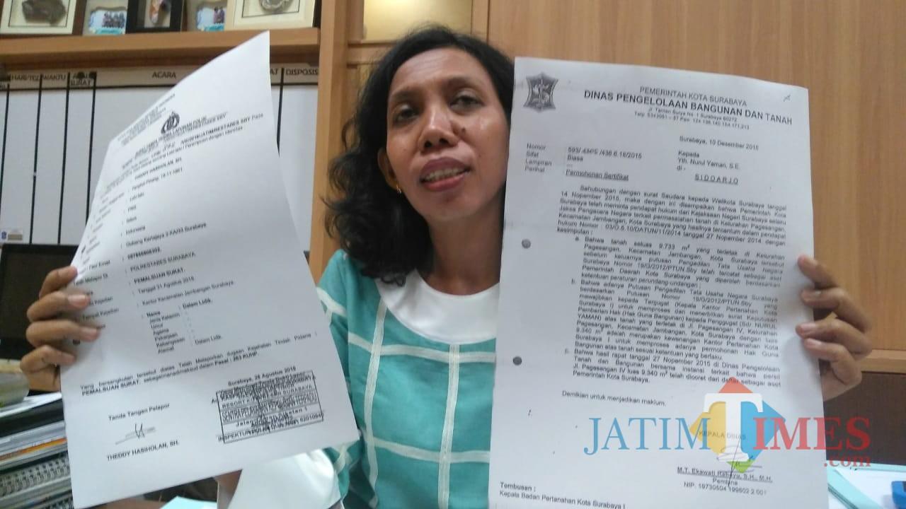Kepala Dinas Pengelolaan Bangunan dan Tanah Kota Surabaya Maria Theresia Ekawati Rahayu