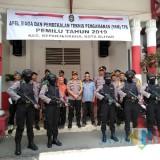 Personel Polres Blitar Kota jaga ketat gudang penyimpanan surat suara