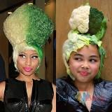 Riley saat menirukan gaya Nicki Minaj. (Foto: instagram @rileydiary)