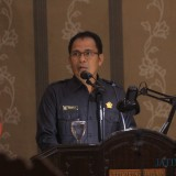 Suhartono saat membacakan laporan hasil kerja pansus III dalam sidang Paripurna (Agus Salam/Jatim TIMES)