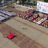 Upacara Hari Kartini di halaman Balai Kota Among Tani pada 23 April 2019, diikuti ASN dan Forkopimda