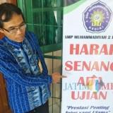 Kepala Sekolah SMP Muhammadiyah 2 Drs Loedhianto. (eko Arif s /JatimTimes)