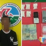 Sandik (24) yang diamankan bersama barang bukti/ Foto : Dokpol / Tulungagung TIMES