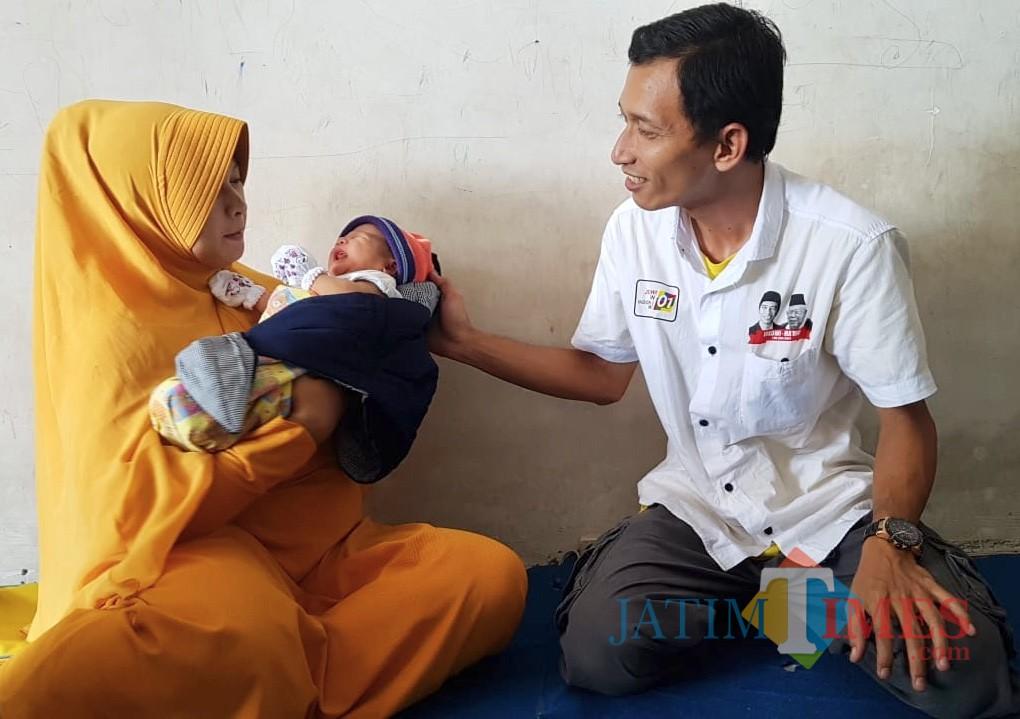 Bayi Jokowi Ma�ruf di Bangil, Pasuruan.
