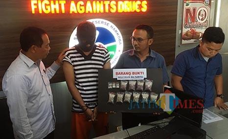 Pengedar Narkoba Asal Tumpang Dibekuk di SPBU, Bandarnya dari Kota Malang
