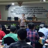 Suasana sosialisasi dan bimbingan teknis yang digelar DPUPR Kota Malang (Hendra Saputra)