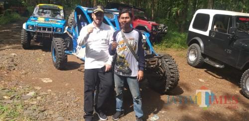 Erwin Kristanto bersama wali Kota Hadi Zainal Abidin, di Event Off Road Just Fighter Track, BJBR (foto: Agus Salam/JatimTIMES)