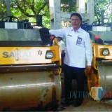 Kepala DPUBM Kabupaten Malang Romdhoni saat berada di kegiatan workshop BIna Marga.(Nana)