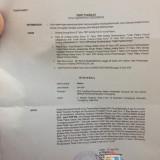 Surat pemanggilan saksi dengan tersangka Ketua DPRD Tulungagung,  Supriyono (istimewa)