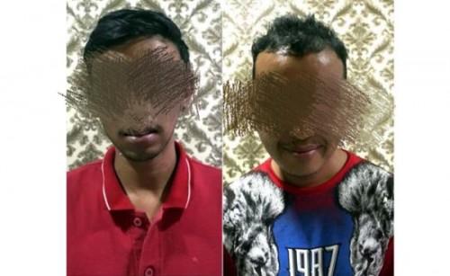 Dua pelaku yang diamankan polisi (Satreskoba)