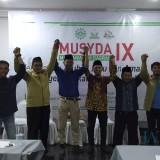 Ketua dan enam formatur yang terpilih dalam Musda Pemuda Muhammadiyah Kabupaten Kediri. (eko Arif s /JatimTimes)