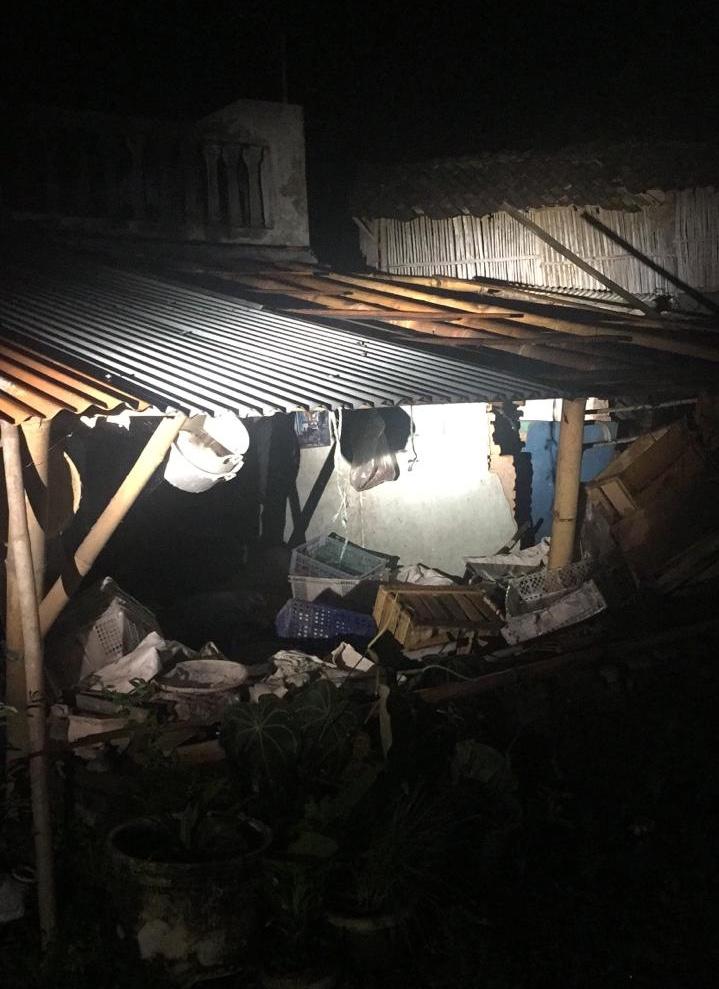 Kondisi rumah seng terangkat di Dusun Sawahan, Desa Giripurno, Kecamatan Bumiaji Kota Batu, Kamis (2/5/2019). (Foto: istimewa)