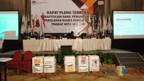 Rekapitulasi suara Pemilu 2019 di Kota Malang (Pipit Anggraeni/MalangTIMES).