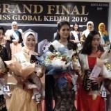 Nova Retalista, mahasiswi Universitas Surabaya terpilih sebagai juara 1 pemilihan duta wisata Miss Global Kediri Minggu (5/5). (Foto: Istimewa)