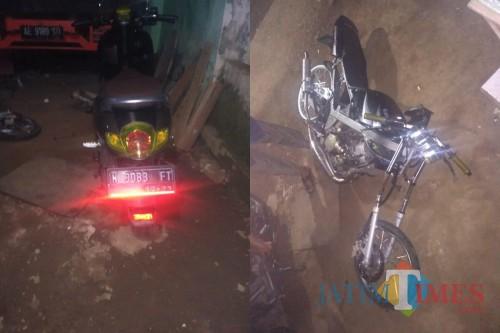 Kondisi kedua kendaraan yang ringsek setelah terlibat kecelakaan, Kecamatan Pagelaran (Foto : Humas Polres Malang for MalangTIMES)