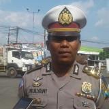 Kanit Patroli Satlantas Polres Jombang Iptu Mulyani saat diwawancarai sejumlah wartawan. (Foto : Adi Rosul / JombangTIMES)