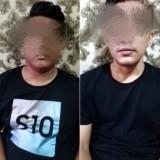 Kedua pelaku yang ditangkap (Satreskoba Polres Malang)