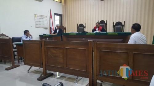 Suasana sidang Praperadilan yang berlangsung di Pengadilan Negeri Kepanjen, Kabupaten Malang (Foto : Polres Malang for MalangTIMES)