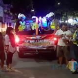 Satlantas Polres Kediri Patroli Sahur sambil Imbau Warga Waspada Kejahatan